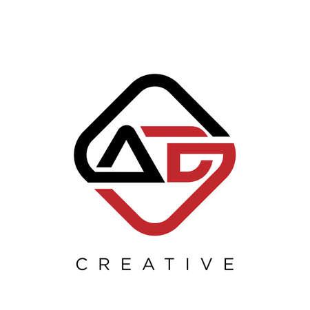 ad  logo design vector icon symbol initials