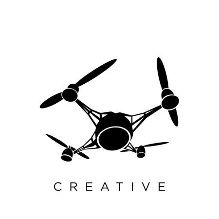 drone logo design vector icon symbol initials