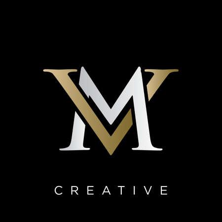 vm logo design vector icon symbol luxury