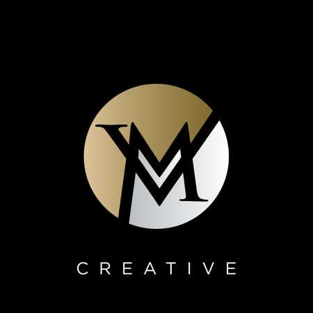 vm logo design vector icon symbol luxury Logó