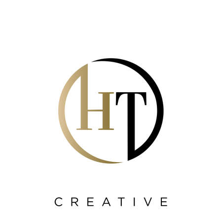 ht logo design vector icon symbol luxury Logó