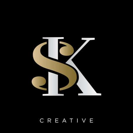 sk logo design vector icon symbol luxury