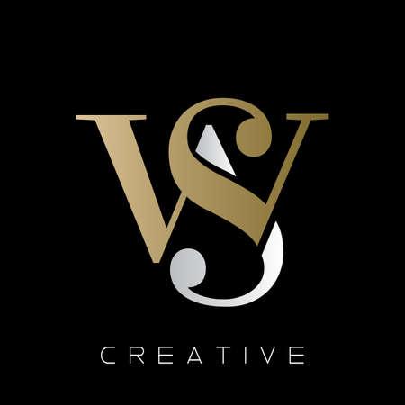 ws  logo design vector icon symbol initials luxury