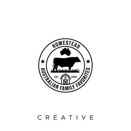 homestead farm logo design vector icon symbol