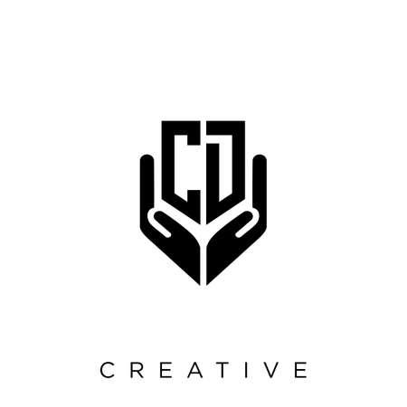 cd hand shield  logo design vector icon symbol luxury