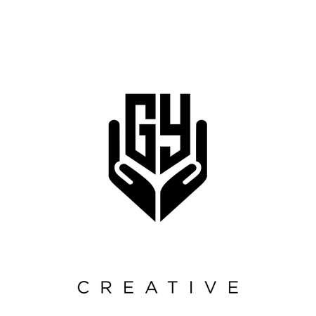 gy hand shield  logo design vector icon symbol luxury