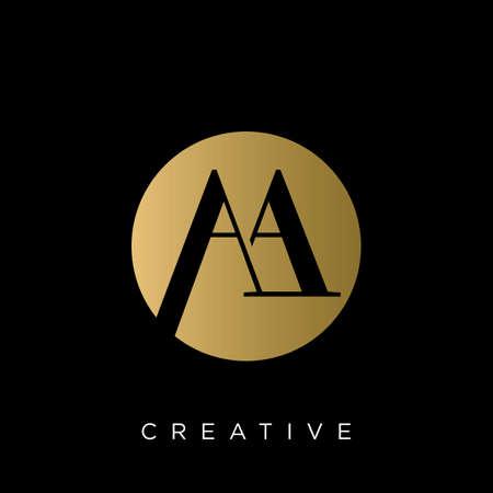 aa logo design vector icon symbol