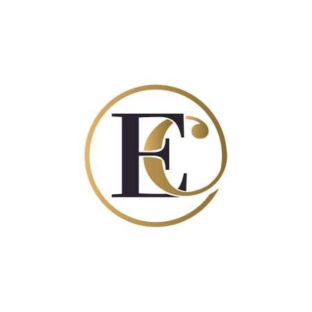 ec luxury logo design vector icon symbol circle