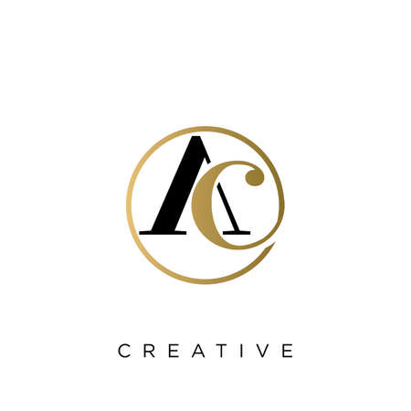 ac luxury logo design vector icon symbol circle Illusztráció