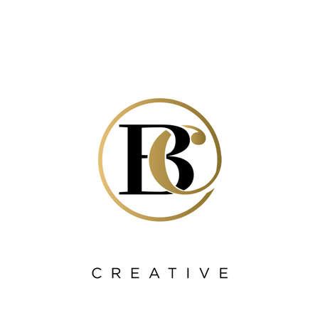 bc luxury logo design vector icon symbol circle