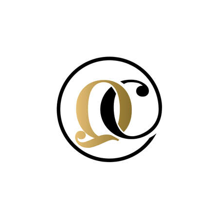 qc luxury logo design vector icon symbol circle