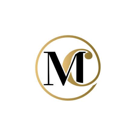 mc luxury logo design vector icon symbol circle