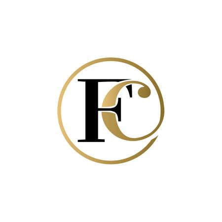 fc luxury logo design vector icon symbol circle Illusztráció