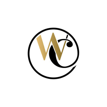wc luxury logo design vector icon symbol circle