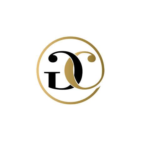 gc luxury logo design vector icon symbol circle
