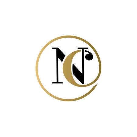 nc luxury logo design vector icon symbol circle