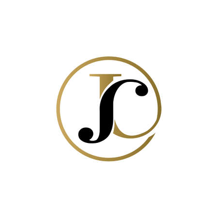 jc luxury logo design vector icon symbol circle Illusztráció