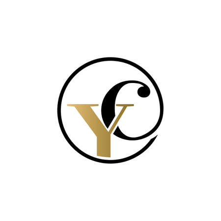 yc luxury logo design vector icon symbol circle Illusztráció