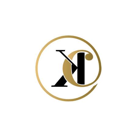 ck luxury logo design vector icon symbol circle