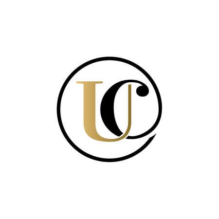 uc luxury logo design vector icon symbol circle Illusztráció