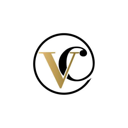 vc luxury logo design vector icon symbol circle