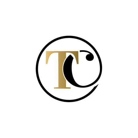 tc luxury logo design vector icon symbol circle Illusztráció