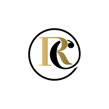 rc luxury logo design vector icon symbol circle