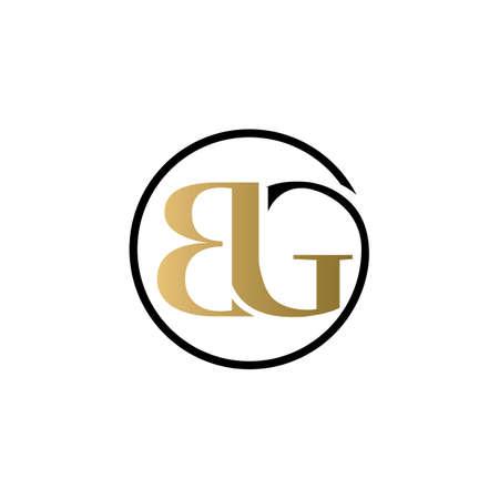 bg luxury logo design vector icon symbol circle