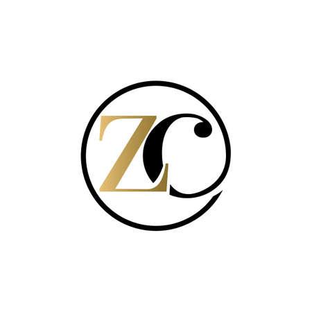 zc luxury logo design vector icon symbol circle Illusztráció