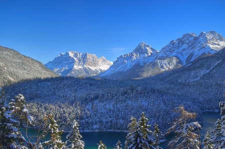 Zugspitze in winter Stock Photo