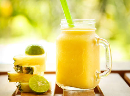 lime fruit: Smoothies pineapple with lime