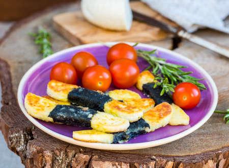 kebob: Vegetarian cheese appetizer