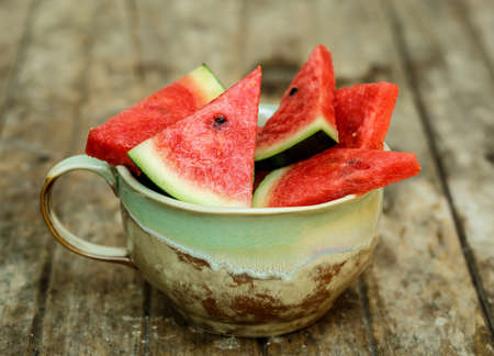 sliced watermelon: slices of watermelon