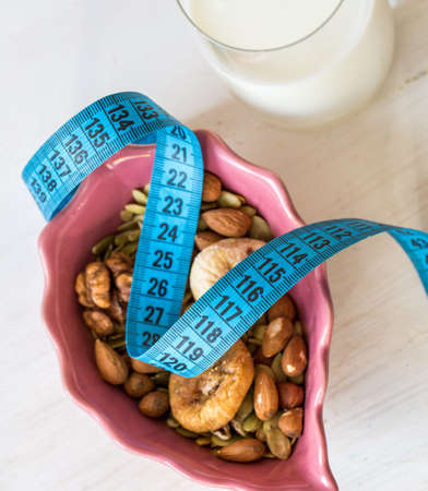 centimeter: Dried Fruits, yogurt and centimeter for dieting