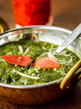 paneer: Palak paneer. Indian dishes