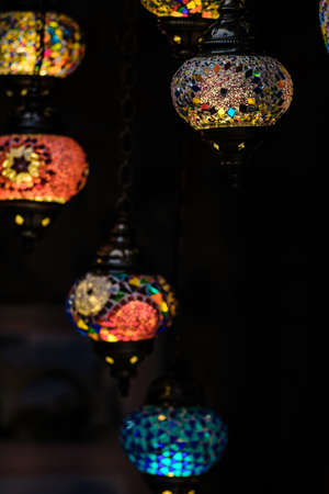 Street bazaar in Mostar with oriental lamps, Bosnia and Herzegovina Stock Photo