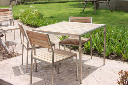 Table in a public park photo