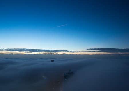 blanketed: Heavy Fog Blanketed Sydney Stock Photo
