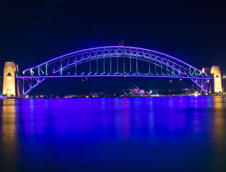 Sydney Harbour Bridge Australia at night photo