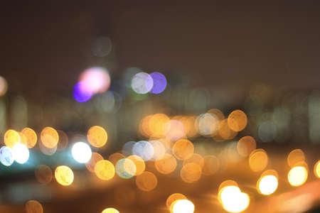 Bokeh of city light at night photo