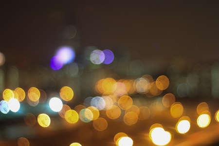 city light: Bokeh of city light at night