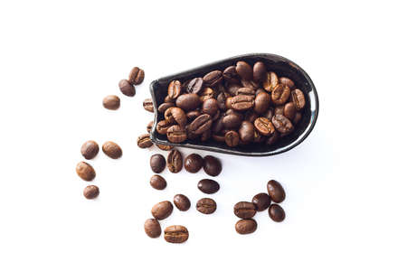 cafe colombiano: coffee beans isolated