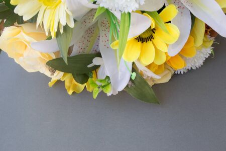 brighten: Flowers made from paper to brighten the background.