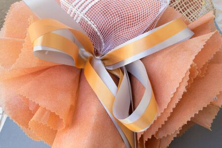 Gift bouquet made of paper Stock Photo