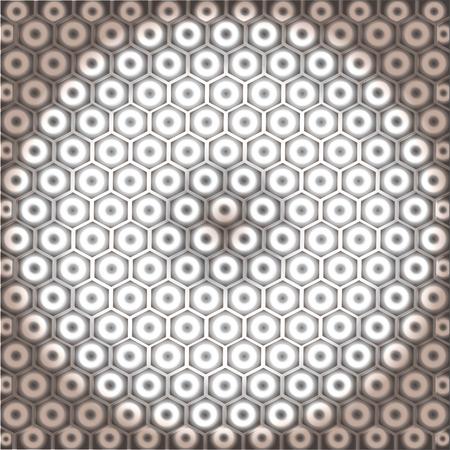 Hexagonal seamless vector pattern. Light gray hexagon