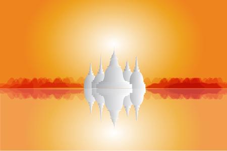 Thailand detailed skyline. Vector illustration Illustration