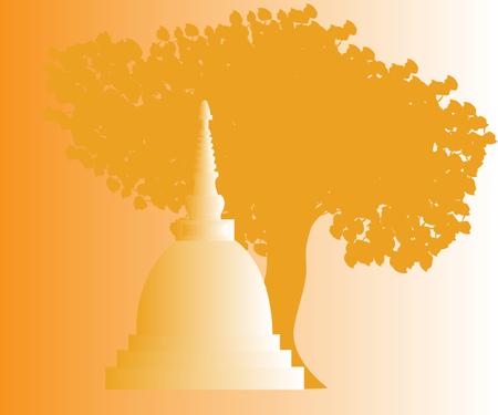 Thailand temple elements. vector illustration.