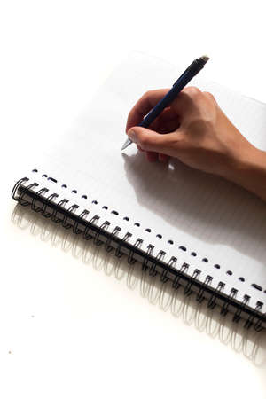Start writing not on piece of paper Stock Photo - 24318431