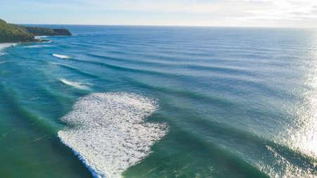 Drone photograph of the coastline of Noosa Heads, Queensland Australia