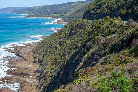 wilsons promontory: Rocky, wild coastline along the Great ocean road, Victoria, Australia